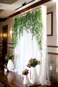 white scenery decoration
