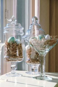 using vases for easter decor