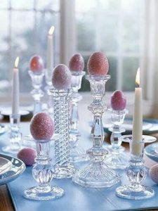 vases and candles for easer decoration