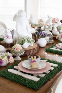 total white decoration for easter