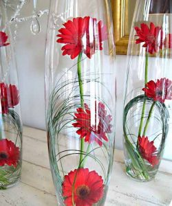 transparent vases for easter decoration